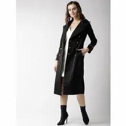 Full Sleeve Women Black Thunder Long Coat