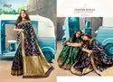 Designer Blue Color Ethnic Party Saree