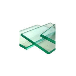 Green High Quality Toughened Clear Glass, Shape: Flat