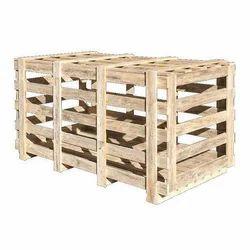 Wood HT Rubber Wooden Crate, Shape: Rectangular