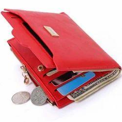 Red Ladies Zipper Wallet