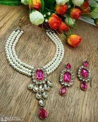 Twinkle Elegant Party Wear Alloy Women''s Jewellery Sets