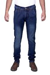 Slim Fit Anaro Mens Blue Shaded Jeans