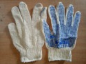 Cotton Knitted Seamless Gloves with PVC Dots