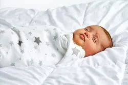 Organic Cotton Baby Swaddle Double Cloth Muslin Printed Fabric