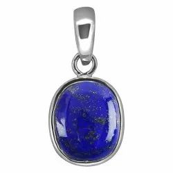 Lapis Lazuli Pendant Women and Men Silver Gemstone