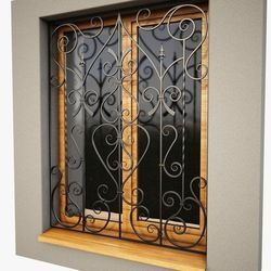 Color Coated Iron Window Grill, Vertical