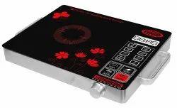 Black 220v Surya Touch Induction Cooker DZ18-IP, Size: Regular
