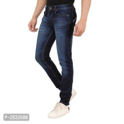 Regular Fit Blue Plain Denim Jeans,Waist Size 34