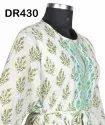Cotton Hand Block Printed Long Women's Maxi Dress Dr430