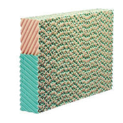 Brown And Green Honeycomb Cooling Pad, Residential Use And Commercial Use
