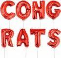 Congrats  Red Foil Balloon