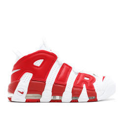 White And Red Nike Air More Uptempo