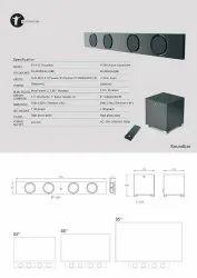 200+200w Professional Soundbar With Bluetooth Speaker