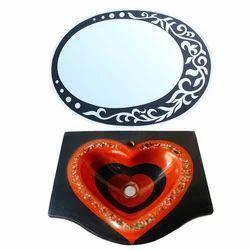 Designer Wash Basin With Mirror