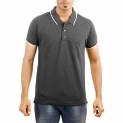 Black Melange Cotton T Shirts for Mens
