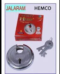 Round Padlock Stainless Steel Hemko lock, Packaging Size: 10 - 20