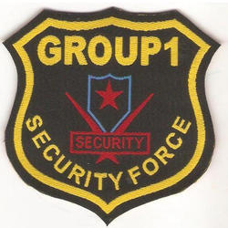Black Security Uniform Woven Labels, Packaging Type: Packet