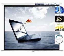 Screen Technics Professional 6 X 8 Instalock Projector Screen Supports 3D/4K/HD Technology