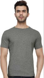 Dark Grey Plain Cotton T Shirt