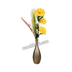 Decorative Plain Flower Vase In Grey Color