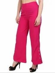 Magenta Ankle Length Palazzo Pants