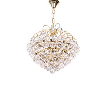 Golden fountain crystal ball 3 light chandelier at rs 32175 piece golden fountain crystal ball 3 light chandelier aloadofball Images
