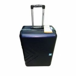 Blue Plastic Travel Trolley Bag, For Travelling