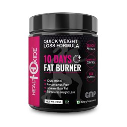 HealthOxide 10 Days Fat Burner, Quick Weight Loss Formula