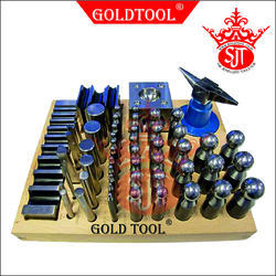 Gold Tool 55 Pieces Multi Dapping Set With Swage Block & Punch Set