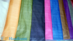 Dyed Tussah Silk Fabric