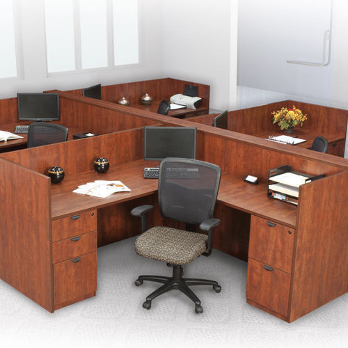 Brown L Shape Computer Workstations, For Office