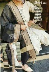 Ipsa 043 Cotton Jacquard Designer Kurti with Bell Sleeves