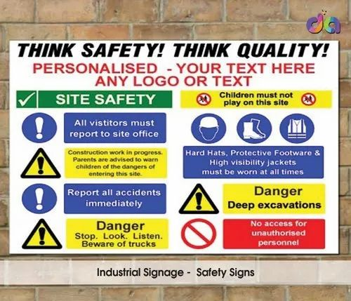 Pp Yellow Warning Sign For Commercial Rs 25 Square Inch Dharshan Adss Id 8637241262