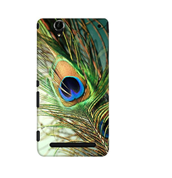 Teal Peacock Feather Case For Sony Xperia T2 Ultra