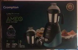 Crompton Torquise Black AMEO MIXER GRINDER, 751 W - 1000 W, for Wet & Dry Grinding
