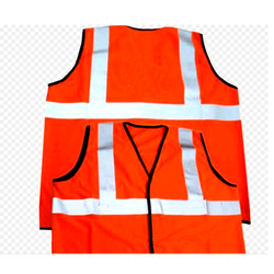 Large And Free Size Orange Safety Jackets Reflective, Traffic Control And Auto Racing