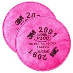 Cotton Pink Particulate Filter Pads