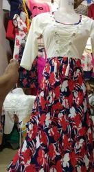 Achkan 3/4th Sleeve WOMEN WARES Cotton KURTI & TOPS