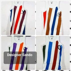 Mens Stripped Designer Sando