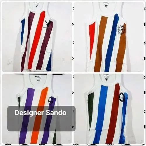 Mens Stripped Designer Sando