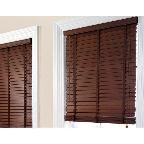 Brown Horizontal Wooden Window Blinds Rs 250 Square Feet