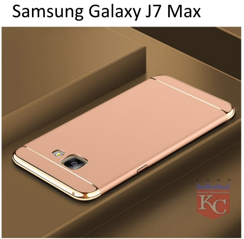 sale retailer e8a61 34d63 3 In 1 Ultra Thin Hard Coated Matte Surface Back Cover For Galaxy J7 Max  Gold