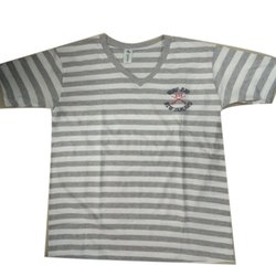 Cotton Casual Wear Kids V Neck T Shirt