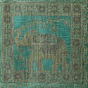 Elephant Green Table Runner Centerpiece