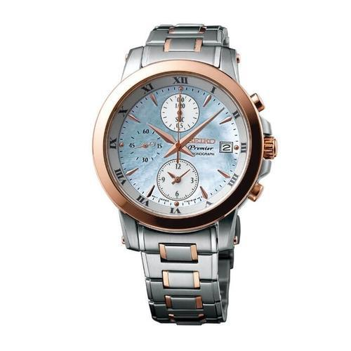 new product 65a31 0c7af Seiko Sndv68p1 37.2 Mm Premier 7t92 Chronograph Watch