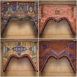 Embroidery Patchwork Door Gate Hanging Valance