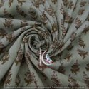 Hand Block Floral Print 100% Cotton Fabric Jaipuri Bagru Print Fabric