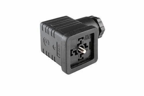 Solenoid Din Connector Hd Socket Non Illuminated 2pole