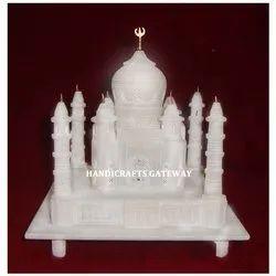 Pure White Marble Taj Mahal Replica